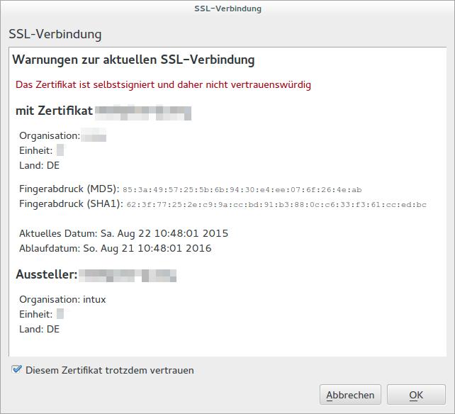 Abgelaufenes SSL-Zertifikat erneuern