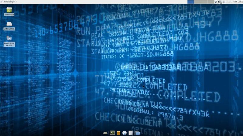 Debian, Tuxedo; InfinityBook, Xfce